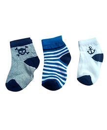 Footprints Organic Cotton & Bamboo Socks- Pack of 3 - Multicolor