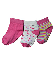 Footprints Organic Cotton Socks- Pack of 3 - Multicolor