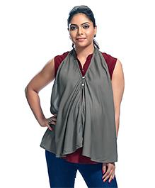 Kriti Solid Colour Maternity Poncho - Grey