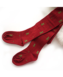 Dazzling Dolls Waist High Thick Teddy Bear Stocking - Red