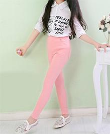 Dazzling Dolls Stretchable Jeggings - Pink