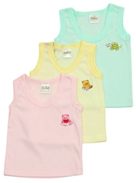 Babyhug - Sleeveless Vest Set Of 3