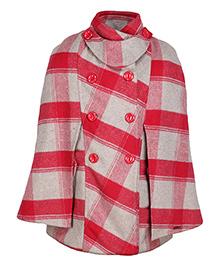 Cutecumber Partywear Jacket - Red & Grey
