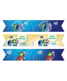 Disney Inside Out Drink Straws Pack Of 10 - Blue