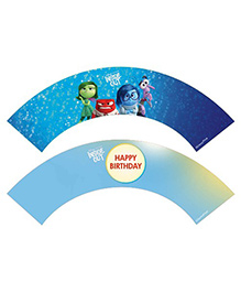 Disney Inside Out Cupcake Wrappers Pack Of 10 - Blue