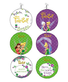 Disney Tinkerbell Danglers Pack Of 6 - Green Purple White