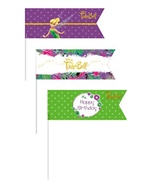 Disney Tinkerbell Picks Pack Of 20 - Purple Green White
