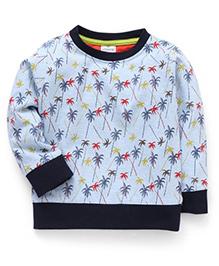 Ollypop Full Sleeves All Over Printed Sweatshirt - Light Blue