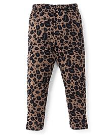 Ollypop Full Length Printed Leggings - Cream Black