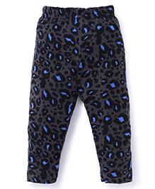 Ollypop Full Length Printed Leggings - Dark Grey