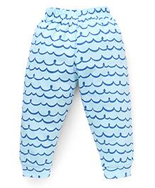 Ollypop Full Length Printed Leggings - Light Blue