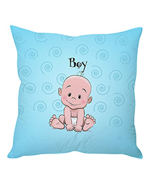 Stybuzz Cute Baby Cartoon Cushion Cover - Blue