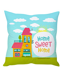 Stybuzz Home Sweet Home Cushion Cover - Blue And Green