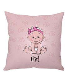 Stybuzz Cushion Cover Baby Print - Light Pink