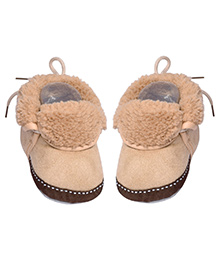 Miss Diva Smart Comfortable & Ultra Soft Suede Shoes - Beige
