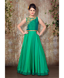 Peek A Boo Beautiful Evening Gown - Green