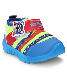 Footfun Casual Shoes Velcro Closure - Green & Blue