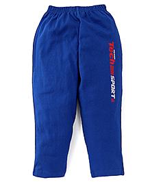 Taeko Full Length Track Pants Tech Sport Print - Royal Blue