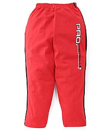 Taeko Full Length Track Pants Pro Football Print - Red