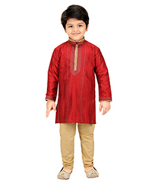 Shree Shubh Ethnic Kurta Pajama Set - Red