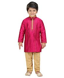 Shree Shubh Ethnic Kurta Pajama Set - Pink
