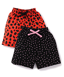 Doreme Casual Shorts Pack of 2 - Black Red
