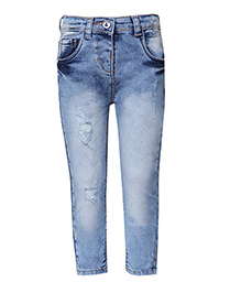 Tales & Stories Full Length Jeans In Ripped Pattern - Blue