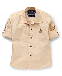Jash Kids Full Sleeves Solid Color Shirt - Light Fawn