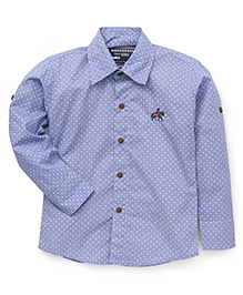 Jash Kids Full Sleeves Dot Print Shirt - Blue