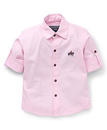 Jash Kids Full Sleeves Solid Color Shirt - Light Pink
