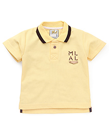 Kiddy Mall Polo Half Sleeves T-Shirt - Yellow