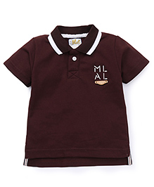 Kiddy Mall Polo Half Sleeves T-Shirt - Brown