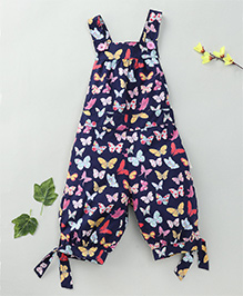Little Fairy Butterfly Print Jumpsuit - Navy Blue