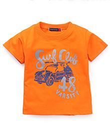 Great Babies Surf Club 48 Varsity Print  T-Shirt - Orange
