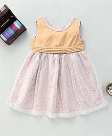 Bebe Wardrobe Sleeveless Dress - Gold