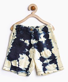 Stylestone Denim Tie N Dye Wash Shorts - Blue