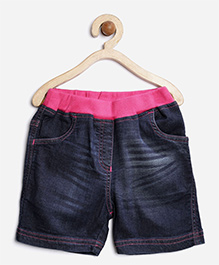 Stylestone Denim Shorts With Waistband - Blue