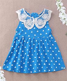 Superfie Swan Printed Dress - Blue