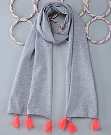 Popsicles Clothing By Neelu Trivedi Jersey Scarf - Melange Grey