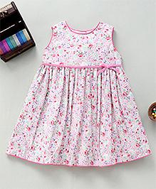 Bebe Wardrobe Flower Print Dress - Pink