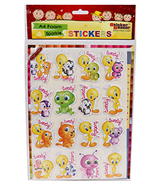 Sticker Bazaar Tweety A4 Size Foam Stickers - Multi Color