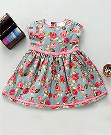 Bebe Wardrobe Flower Print Dress - Multicolour