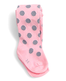 Dazzling Dolls Waist High Thick Winter Polka Dot Stockings - Pink