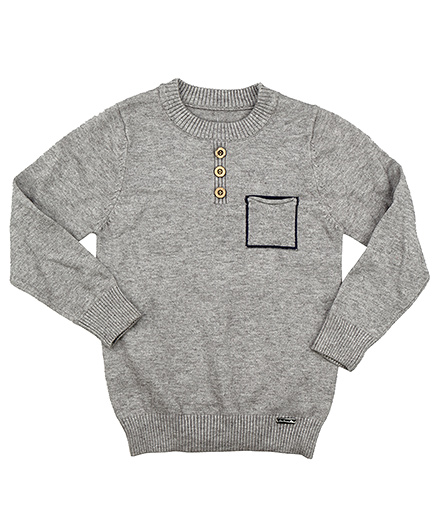 One Friday Boys Knitted Pullover - Grey