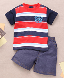 Great Babies Great Sport Applique T-Shirt & Shorts Set  - Red