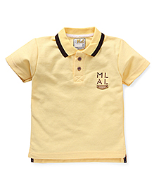 Kiddy Mall Polo Neck T-Shirt - Yellow