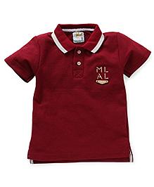 Kiddy Mall Polo Neck T-Shirt - Maroon