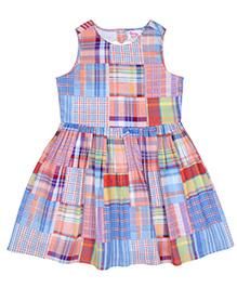 Teeny Tantrums Plaid Printed Dress - Multicolor