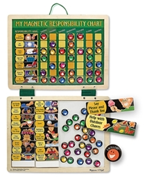 Melissa & Doug - My Magnetic And Wooden Responsibility Chart