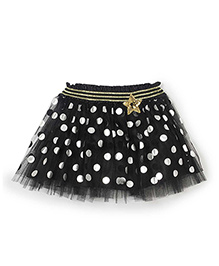 Barbie Party Wear Polka Dot Tu Tu Skirt - Black